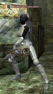 A Bloodsaber specialist (dark elf)