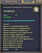 Alchemist Essentials Volume 34