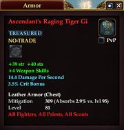 Ascendant's Raging Tiger Gi