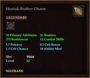 Hooluk-Feather Charm