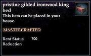 Gilded Ironwood King Bed
