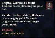 Trophy Zarrakons Head