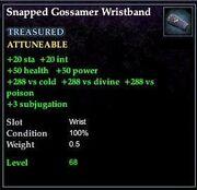 Snapped Gossamer Wristband