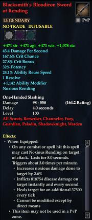 Blacksmith's Bloodiron Sword of Rending