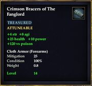 Crimson Bracers of The Fanglord