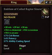 Emblem of Coiled Raptor Sinew