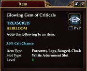 Glowing Gem of Criticals