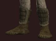 Mentor's Dark Silk Foot Wraps (Equipped)