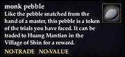 Monk pebble