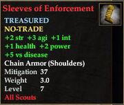 Sleeves of Enforcement