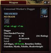 Crossroad Worker's Dagger