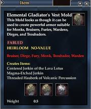 Elemental Gladiator's Vest Mold