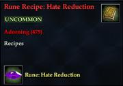 Rune Recipe- Hate Reduction