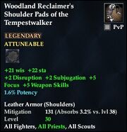 Woodland Reclaimer's Shoulder Pads of the Tempestwalker