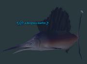 A deepsea marlin