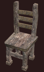 A pristine primitive elm chair (Visible)