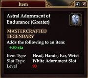 Astral Adornment of Endurance (Greater)