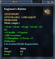 Engineer's Bolster