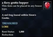 A fiery grotto hopper