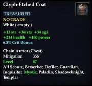 Glyph-Etched Coat