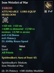 Iron Wristlet of War