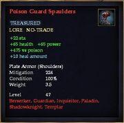 Poison Guard Spaulders