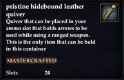 Pristine hidebound leather quiver