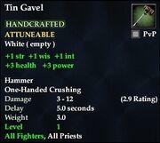Tin Gavel