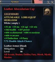 Leather Abecedarian Cap