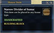 Narrow Divider of Sumac