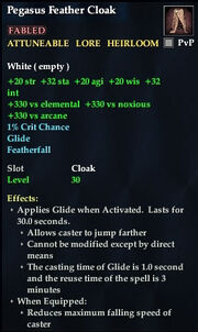 Pegasus Feather Cloak