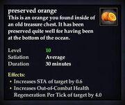 Preserved orange
