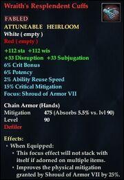 Wraith's Resplendent Cuffs