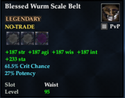 Blessed Wurm Scale Belt