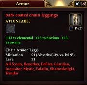 Bark coated chain leggings