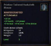 Pristine Tailored Sackcloth Blouse