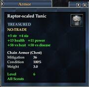 Raptor-scaled Tunic