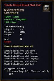 Thistle Etched Blood Mail Coif