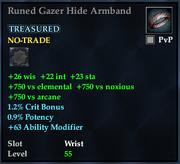 Runed Gazer Hide Armband