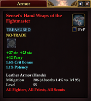 Sensei's Hand Wraps of the Fightmaster