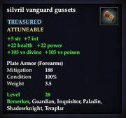 Silvril vanguard gussets