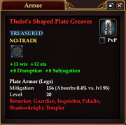 Theist's Shaped Plate Greaves