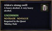 Alden's strong swill