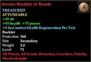 Arcane Buckler of Beasts