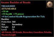Arcane Buckler of Beasts