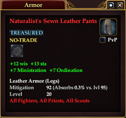 Naturalist's Sewn Leather Pants