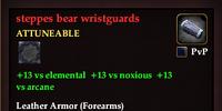 Steppes bear wristguards