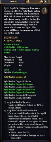 Kyle Bayle's Dogmatic Greaves