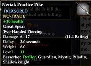 Neriak Practice Pike