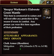 Vesspyr Workman's Elaborate Green Mantle